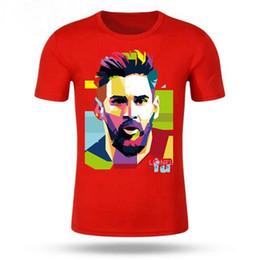 NUEVO Lionel Messi camiseta de manga corta Messi camiseta 100% algodón  camiseta Tops Argentina Jersey para fanáticos camiseta pullover bc329d080cc