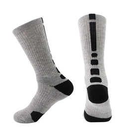 Wholesale Professional Fashion Men - Winter Men's Outdoor Sport Socks Professional Basketball Elite Ski Soccer Socks Cotton Fashion Men Long Cycling Socks Leg Warmers for Men
