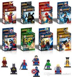 2019 brinquedos do homem-aranha azul League of Legends montagem de blocos de construção de quebra-cabeça crianças brinquedos educativos comércio por atacado crianças brinquedos educativos
