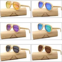 Lunettes de soleil en bois polarisées UV400 Lunettes de soleil en bambou  Marque Lunettes de soleil en bois avec étui en bois magasin d usine pas cher edd6240c02b9