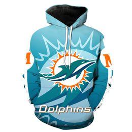 impresión de miami Rebajas Sudadera con capucha para hombre Miami Dolphins Impresión completa en 3D Sudadera con capucha hombre Sudadera con capucha casual unisex Sudaderas mangas largas Tops digitales (RL2722)