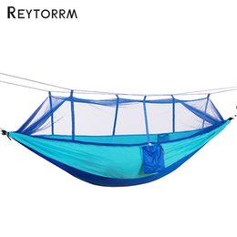 Wholesale Mosquito Nets For Outdoors - Mosquito Free Hammock Net Ultralight Outdoor Portable For Travel Survival Camping Sleeping Hamak Bed Hamac