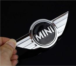 Scatole posteriori online-20 pezzi mini auto standard COOPERS in metallo modificato mini originale auto stereo posteriore scatola di coda adesivi per auto