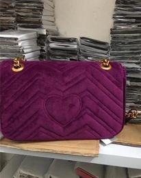 Wholesale Velvet Evening Bags - 2018 Super Fashion Women Glitter Sequin Evening Party velvet Bag Ladies Tote Messenger Bag Envelope Handbag 5 Colors for Choice