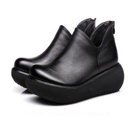 Wholesale High Comfortable Platform Wedding Shoes - Hot selling 2018 spring new light soft bottom comfortable Platform wedges shoes woman high heels Non-slip women fashion shoes casual pumps