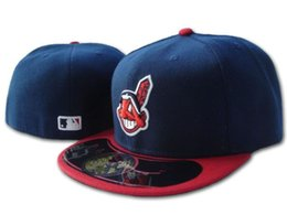Wholesale free online shipping - Free Shipping 2018 New!! Wholesale Online Shopping Cleveland Indians Fitted Hats Snapback Cap Men Women Basketball Hip Pop