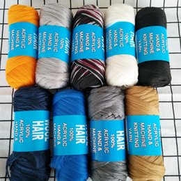 Trenza de lana online-70g / pcs Deseo de hilado del cabello Fibra sintética retardante de llama de baja temperatura del pelo de lana brasileña para trenzar la nave libre
