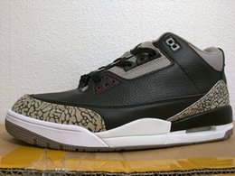 Wholesale Lycra Nylon Fabric - High Quality 2018 New OG Black Cement 3s 854262-001 Basketball Shoes Men Sneakers With Shoes Box