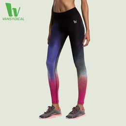 Wholesale Womens Compression Pants - VANSYDICAL New Sexy Yoga Pants Women Leggings Elastic Gym Fitness Workout Running Tights Compression Trousers For Fitness Womens