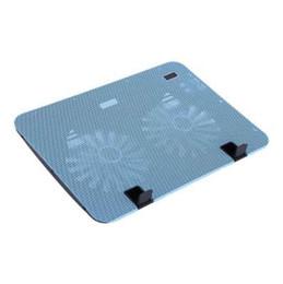 "Wholesale Macbook Pro Aluminum - Laptop Cooler Cooling Pad Base USB 2 Fans LED Cooler for Macbook Air Pro for Samsung  Lenovo Dell HP Acer Under 17"" Universal"