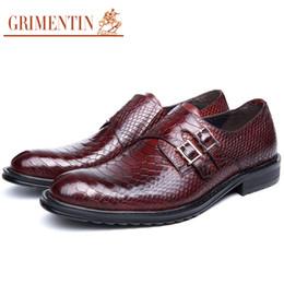 Wholesale Vintage Rubber Animals - GRIMENTIN fashion genuine leather men shoes dress black brown top quality casual classic vintage male shoes men basic flats 2017