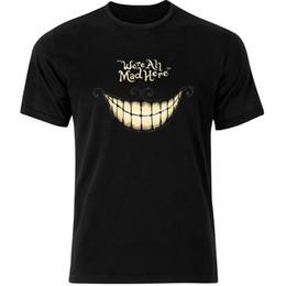 Cheshire Cat Alicia en el país de las maravillas Estamos todos locos aquí  Camiseta para hombre Tee Top AB36 Mens 2018 marca de moda Camiseta O-Neck a00699896d5