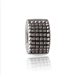 Wholesale Silver Charm Bracelet Stopper Beads - Fit Sterling Silver Bracelet Anti Dropping European Stopper Clips Lock Charm 3mm Hole Beads Fits pandora Bracelet jewelry findings