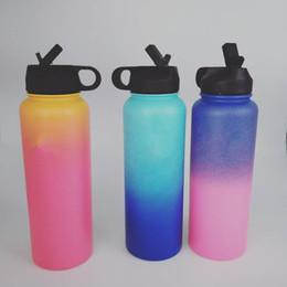 Nouveau style bouteille d'eau extérieure 40 oz Sport isolé en acier inoxydable bouteille d'eau large bouche couleur dégradé bouteille d'eau ? partir de fabricateur