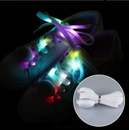 Beleuchtete schuhschnüre online-Led Sport Schnürsenkel Glow Schnürsenkel Round Flash Light Schnürsenkel Luminous No Tie Lazy Shoe YH1493