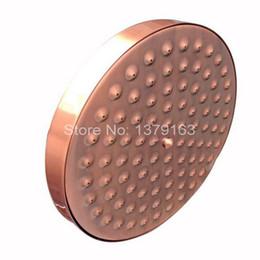 "Wholesale Mounted Shower - 8"" ( inch ) Vintage Red Copper Antique Brass Round Shape Bath Rainfall Shower head   Bathroom Accessory (Standard 1 2"") ash032"