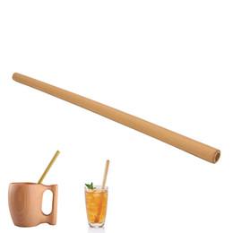 New Organic Bambu canudo Para A Festa de Casamento de Aniversário Biodegradável Palhas De Madeira Talheres Atacado 1 Pcs de Fornecedores de palhas biodegradáveis por grosso