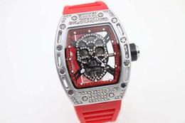 2020 pulseira de borracha vermelha Luxo Bran Transparente Black Dial Rubber Band Vermelho Womens Stainless Pointer Assista Womens Moda Quartz Watchesver de pulso à venda FU157 pulseira de borracha vermelha barato