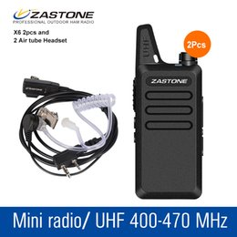Wholesale radios hf - 2Pcs lot Zastone X6 Radio Portatil UHF 400-470 MHz Portable handheld CB Radio Transceiver Mini Walkie Talkie HF Transceiver