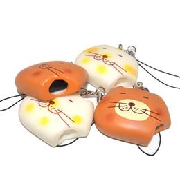 Wholesale Mobile Ornaments - new cute cat mobile phone bag squeeze Le squeeze pendant ornaments toys