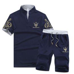 Wholesale Men Fashion Jogging Pants - Brand Designer Luxury Mens Tracksuits Summer T-shirt+Pant Sportswear Fashion Sets Short Sleeve Running Jogging High Quality Plus Size
