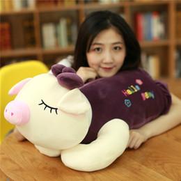 boneca de porco bonito dos desenhos animados Desconto Cerca de 45 cm bonito dos desenhos animados porco brinquedo de pelúcia olá bebê propenso porco boneca macia travesseiro presente de Natal w2277