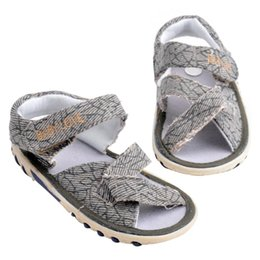 Wholesale first coffee - Summer Kids Beach Baby Shoes Casual Flat Prewalkers Baby Shoes(Light coffee) Fashionable First Walkers Buckle Shoes for