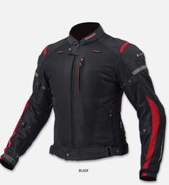 Motocicleta equitación trajes hombres online-Envío gratis 2017 nueva JK069 chaqueta de la motocicleta de malla de verano transpirable racing anti-drop chaqueta de los hombres trajes de equitación