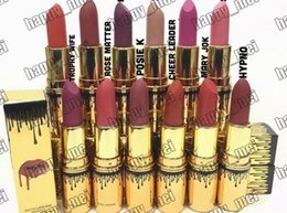 free lipsticks Promo Codes - Free Shipping ePacket New Makeup Lips Gold Box K5621 Matte Lipstick!12 Different Colors