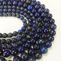 "Wholesale Lapis Cross - YesGem Wholesale Natural Stone Lapis Lazuli Round Loose Beads 15"" Strand 4 6 8 10 12 14MM Pick Size DIY Necklace Bracele Freeshipping"