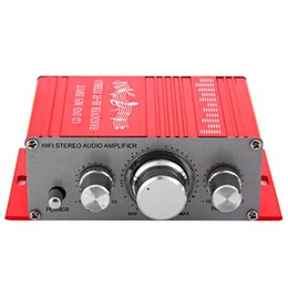 Wholesale Motorcycle Mp3 Audio - LONGFENG LF24 Hi-Fi 12V Mini Auto Car Stereo Amplifier 2 Channel Audio Support CD DVD MP3 Input for Motorcycle Home