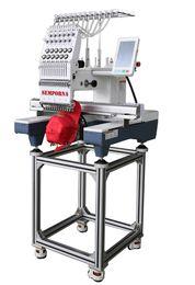 máquina cortadora Rebajas SN1201 Máquina de bordado computarizada de cabeza única con tapa y dispositivo de camiseta