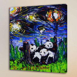 Wholesale Giant Art Prints - Van Gogh The Giant Panda HD Canvas Prints Wall Art Oil Painting Home Decor  (Unframed Framed )