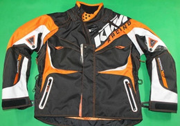 Wholesale Motorcycle Jackets Oxford - Top grade KTM motorcycle racing suits motocross bike clothing jersey knight costume with split sleeve oxford mesh clothing