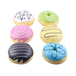 Wholesale donut mobile - 1 Piece 8cm Soft Candy Donut Mobile Phone Straps Keychain for Phone Decor Squishy Toys Slow Rebound Straps Kids Gift P15