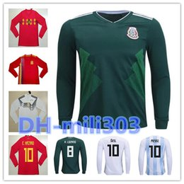 d4183f933 AAA+ 2018 World Cup Spain home red soccer jersey Long sleeves 18 19 Belgium  Mexico Japan Argentina Colombia Sweden Egypt football shirt sweden soccer  jersey ...