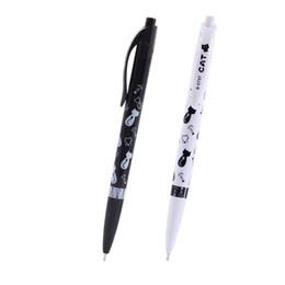 4 Unids / set Lindo Negro Blanco Gato Bolígrafo Kawaii 0.5mm Azul Papelería Pluma Para Niños Material Escolar Oficina Estojo Escolar desde fabricantes