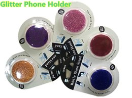 Wholesale Packaging Pop - Glitter Universal Cell Phone Holder Epoxy POP Finger Bling Ring Stander for iPhone X 8 Samsung Note8 S8 LG ZTE with Retail Packaging