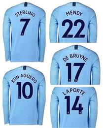 dc01d7e30 custom fan jerseys Coupons - personalized Long Sleeve 18-19 customized 10  Kun Agüero 7