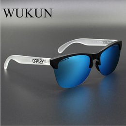 Wholesale male trends - WUKUN Polarized Cycling Glass TR90 Frame Polarized Lens Men Women Sports Glasses Trend Eyeglasses Male Driving Eyewear Frogskin