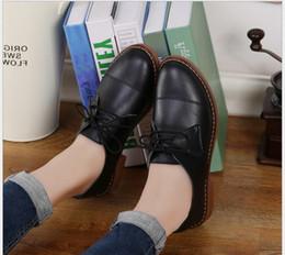 chaussures de travail oxford femme Promotion Véritable Cuir Oxford Chaussures Pour Les Femmes Bout Pointu Infirmière Travail chaussures Printemps Automne Plat Casual Mère Femmes Mocassins 2017