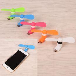ventilateur de téléphone portable portable Promotion Mini ventilateur micro USB portable Téléphone portable ventilateur USB Pour téléphone micro USB type-c x