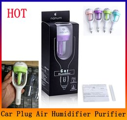 Wholesale 12v Car Air Freshener - 12V Car Steam Humidifier Auto Mini Air Purifier Freshener Aroma Diffuser Essential Diffuser Aromatherapy Mist Maker Fogger