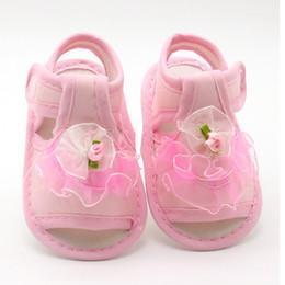 tissu de dentelle rose Promotion 2018Nouveau Rose Blanc Rouge Bébé Fille Dentelle Fleurs Sandales Tissu En Coton Sandales Féminines Sandales Fille D'été ChaussuresFlowers
