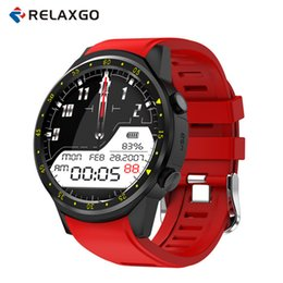 Wholesale smart phone remote support - Relaxgo F1 Sport Smart Watch with GPS Camera Support Stopwatch Bluetooth Smartwatch SIM Card Wristwatch for Android IOS Phone