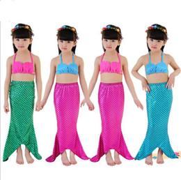 3570ba3672d88 Girl Swimsuit Mermaid Clothing Baby Shell Beauty Fish Tail Child Swimwear  Kid Bikini Cartoon Mermaid Tail Bikini Set Swimwear KKA5102