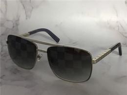 cc9377d086 Gafas de sol de diseñador vintage para hombre actitud 0259 Gafas de marco  cuadrado de metal uv400 lente Gafas de protección al aire libre con caja  naranja