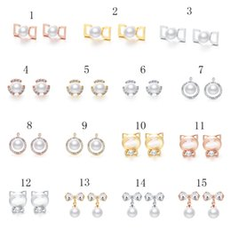 Wholesale crystal earrings for sale - Hot Sale New Fashion 15 Color true gold Charm jewelry Earrings For Women Students