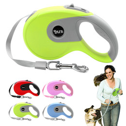 Wholesale retractable dog leash large - Wholesale-5m Retractable Dog Leash Automatic Extending Walking Lead For Medium Large Dogs Up to 88lbs Tangle Free