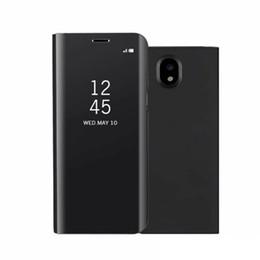 Espejo de lujo Clear View Case para Samsung Galaxy J3 J5 J7 Pro J330 J530 J730 cubierta del teléfono Base de galjanoplastia soporte vertical desde fabricantes
